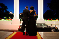 "June 13, 2012.""There was still a little light left in the evening sky as the President Barack and First Lady waved goodbye to President Shimon Peres of Israel following a dinner in his honor at the White House."" .Mandatory Credit: Pete Souza - White House via CNP /MediaPunch"