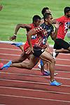 Aska Cambridge (JPN), <br /> AUGUST 25, 2018 - Athletics : Men's 100m ROUND 1 at Gelora Bung Karno Main Stadium during the 2018 Jakarta Palembang Asian Games in Jakarta, Indonesia. <br /> (Photo by MATSUO.K/AFLO SPORT)