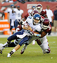 Villanova Wildcats Chris Polony (12) in action during a game against the Temple Owls on August 31, 2012 at Lincoln Financial Field in Philadelphia, PA. Temple beat Villanova 41-10.
