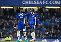 Kurt Zouma (right) of Chelsea during the The Checkatrade Trophy match between Chelsea U23 and Oxford United at Stamford Bridge, London, England on 8 November 2016. Photo by Andy Rowland.