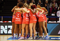 03.09.2017 England in action during the Quad Series netball match between England and South Africa at the ILT Stadium Southland in Invercargill. Mandatory Photo Credit ©Michael Bradley.