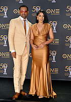 LOS ANGELES, CA. March 30, 2019: Mike Epps & Kyra Robinson at the 50th NAACP Image Awards.<br /> Picture: Paul Smith/Featureflash