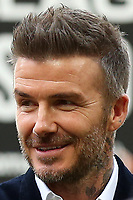 David Beckham on the pitch celebrating Salford City's victory during AFC Fylde vs Salford City, Vanarama National League Football Promotion Final at Wembley Stadium on 11th May 2019