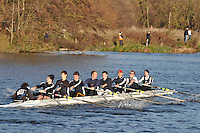170 .CHB-O Neill .IM3.8+ .Christ Church. Wallingford Head of the River. Sunday 27 November 2011. 4250 metres upstream on the Thames from Moulsford railway bridge to Oxford University's Fleming Boathouse in Wallingford. Event run by Wallingford Rowing Club.