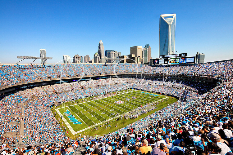 The Carolina Panthers at Bank of America Stadium in Charlotte, North Carolina.