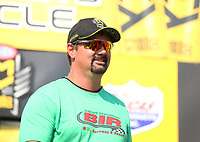 Aug 20, 2017; Brainerd, MN, USA; Brainerd International Raceway track owner Jed Copham during the NHRA Lucas Oil Nationals. Mandatory Credit: Mark J. Rebilas-USA TODAY Sports