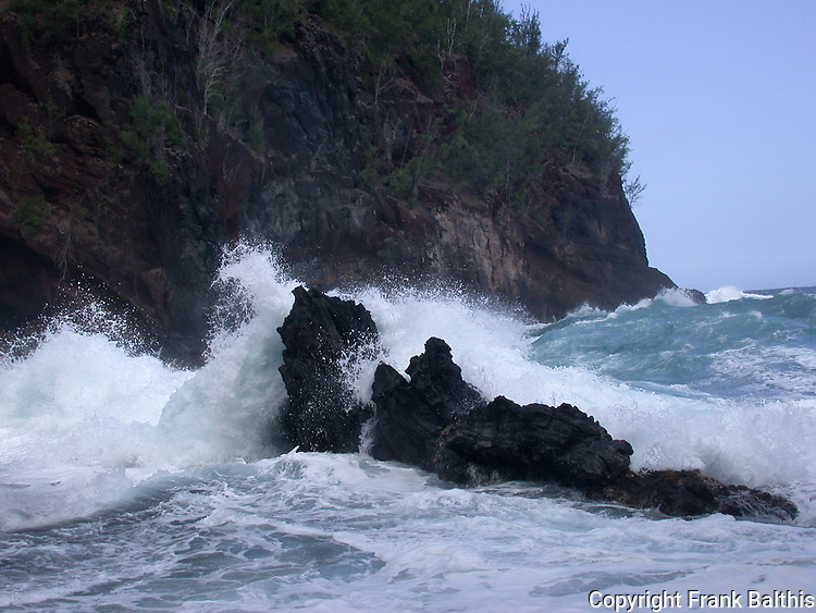waves and rocks in Hana