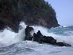 waves and rocks in Hana