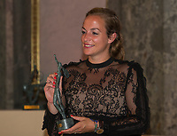 Paris, France, 5 June, 2017, Tennis, French Open, Roland Garros,  ITF Champions Dinner, Wheelchair World Champion 2016 Jiske Griffioen (NED)<br /> Photo: Henk Koster/tennisimages.com