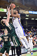 Baltimore, MD - Hofstra Pride guard Ameen Tanksley (2) is fouled and makes the basket over William & Mary Tribe forward Sean Sheldon (31) during the CAA Basketball Tournament at the Royal Farms Arena in Baltimore, Maryland on March 6, 2016.  (Photo by Philip Peters/Media Images International)