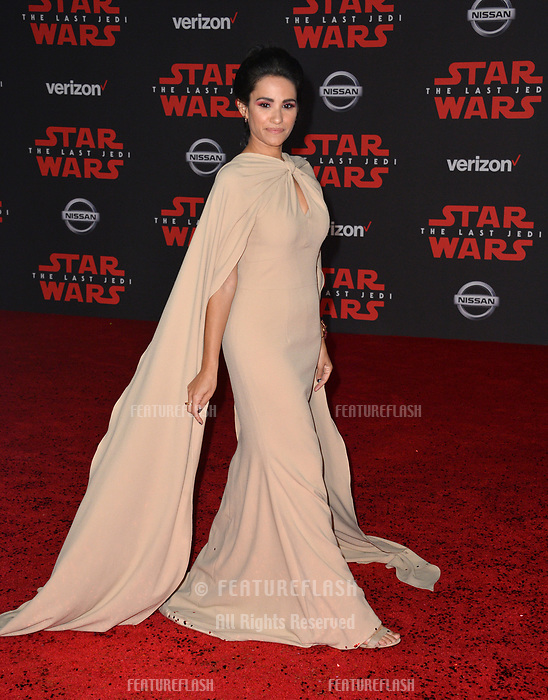 Tiffany Smith at the world premiere for &quot;Star Wars: The Last Jedi&quot; at the Shrine Auditorium. Los Angeles, USA 09 December  2017<br /> Picture: Paul Smith/Featureflash/SilverHub 0208 004 5359 sales@silverhubmedia.com