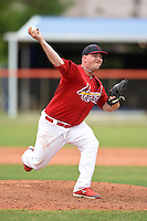 St. Louis Cardinals pitcher Kyle Grana (41) during a minor league spring training game against the New York Mets on March 27, 2014 at the Port St. Lucie Training Complex in St. Lucie, Florida.  (Mike Janes/Four Seam Images)