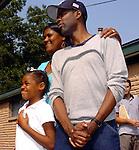 Chris Rock visits Hurricane Katrina Evacuees