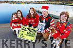 The Tralee 5k Santa Fun Run launched in aid of Crumlins Children Hospital going on Sunday 16th of December.<br /> L-r, Paige and Mags Quillinan, Aoife Moynihan, Martin and Deirdre Moore with Jazz the dog.