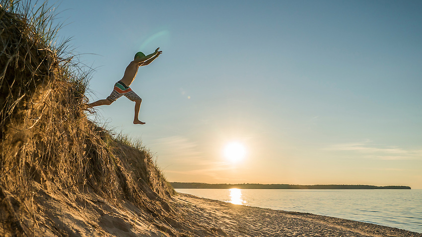 Lake Superior beach life near Marquette, Michigan.