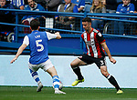 Enda Stevens of Sheffield Utd  and Kieran Lee of Sheffield Wednesday during the Championship match at the Hillsborough Stadium, Sheffield. Picture date 24th September 2017. Picture credit should read: Simon Bellis/Sportimage