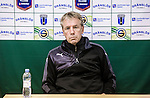 ***BETALBILD***  <br /> Uppsala 2015-05-21 Fotboll Superettan IK Sirius - Mj&auml;llby AIF :  <br /> Mj&auml;llbys tr&auml;nare Hans Larsson p&aring; presskonferensen efter matchen mellan IK Sirius och Mj&auml;llby AIF <br /> (Foto: Kenta J&ouml;nsson) Nyckelord:  Superettan Sirius IKS Mj&auml;llby AIF portr&auml;tt portrait