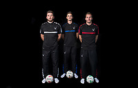 (l-r) Matt Ingram, Henry Newcombe & Scott Brown during the PEAK Elite Sportswear Photoshoot at Wycombe Training Ground, High Wycombe, England on 1 August 2017. Photo by PRiME Media Images.