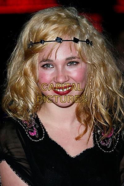 "JUNO TEMPLE.At the UK Film Premiere of ""St. Trinian's"", Empire Leicester Square, London, England, December 10th 2007..portrait headshot  head band headband hairband hair.CAP/DAR.©Darwin/Capital Pictures"