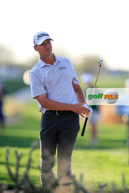 Sean O'Hair (USA) during the 2nd round of the Waste Management Phoenix Open, TPC Scottsdale, Scottsdale, Arisona, USA. 01/02/2019.<br /> Picture Fran Caffrey / Golffile.ie<br /> <br /> All photo usage must carry mandatory copyright credit (&copy; Golffile | Fran Caffrey)