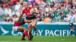 Hong Kong vs Mexico during their HSBC Sevens Wold Series Qualifier match as part of the Cathay Pacific / HSBC Hong Kong Sevens at the Hong Kong Stadium on 27 March 2015 in Hong Kong, China. Photo by Xaume Olleros / Power Sport Images