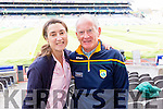 Mary Spring and Tim Walsh, Tralee, pictured at the All-Ireland football semi-final in Croke Park on Sunday.