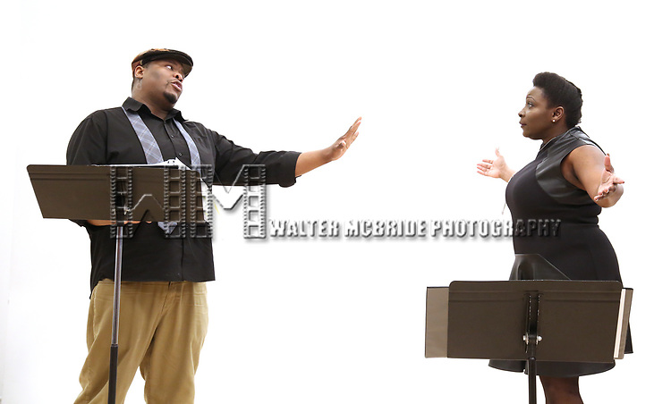 """Juson Williams  and Darlene Hope During the Open Rehearsal for the Miami New Drama's World Premiere Musical  """"A Wonderful World"""" at the Ripley-Grier Studios on January 26, 2020 in New York City."""
