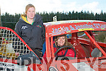 Kingdom Hot Rod Drivers : Katie Quinn, Lyrecrompane and Jackie O'Connor from Castleisland attending the Hot Rod racing in Kilflynn on Sunday.