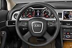 Steering wheel view of a 2006 - 2011 Audi A6 ALLROAD QUATTRO Avus 5-Door Wagon 4WD