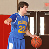 Kyle DeVerna #22 of Kellenberg directs the offense during a non-league varsity boys' basketball game against Long Beach at Freeport High School on Monday, Jan. 18, 2016. He scored a game-high 30 points in Kellenberg's 71-62 win.