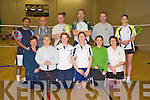 The Kerry team who competed in the Munster Class 5 Inter county competition held in the Aura Sports and Leisure centre, Killarney, on Sunday morning were Marion O'Neill, Margaret Harmon, Mairead Regan, Michelle Kearney, Catherine Murphy, Carmel Hudson, back, Ainish Varughese, Sean Ryan, Fergus McCarthy, Barry O'Brien, Mark Loughnane, manager, and Fiona O'Neill.