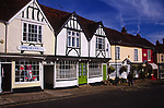 A083JD Old traditional shops Woodbridge market hill Suffolk England