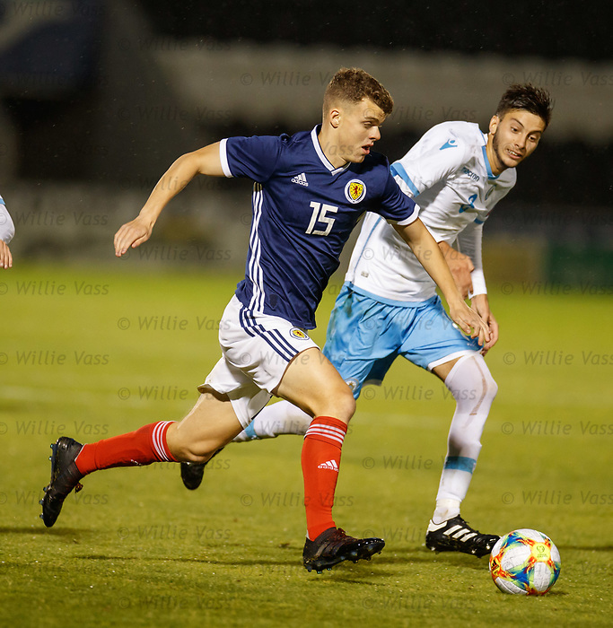 05.09.2019 Scotland u-21 v San Marino, European u-21 Championship 2021 Qualifying Round: Lewis Smith and Riccardo Michelotti