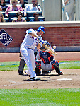 25 July 2012: New York Mets catcher Josh Thole in action against the Washington Nationals at Citi Field in Flushing, NY. The Nationals defeated the Mets 5-2 to sweep their 3-game series. Mandatory Credit: Ed Wolfstein Photo