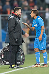 Damian Nicolas Suarez Suarez of Getafe CF talking to the coach during the La Liga 2017-18 match between Getafe CF and Valencia CF at Coliseum Alfonso Perez on December 3 2017 in Getafe, Spain. Photo by Diego Gonzalez / Power Sport Images