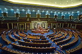 Nearly empty United States House of Representatives Chamber prior to the session where US Representative Paul Ryan (Republican of Wisconsin) was elected as Speaker of the House in the US Capitol in Washington, DC on Thursday, October 29, 2015.<br /> Credit: Ron Sachs / CNP