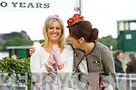 Kate Ferguson (winner) and Susan Moriarty (Second) finalists in the best dressed lady competition pictured at Listowel races on Sunday.