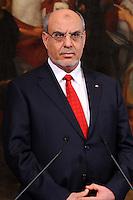 Roma 15 Marzo 2012.Palazzo Chigi.Summit tra il presidente del Consiglio, Mario Monti, ed il primo ministro della Tunisia, Hamadi Jebali.