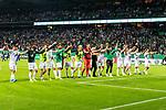 10.08.2019, wohninvest WESERSTADION, Bremen, GER, DFB-Pokal, 1. Runde, SV Atlas Delmenhorst vs SV Werder Bremen<br /> <br /> im Bild<br /> Jubel / Siegjubel, <br /> Werder Bremen zieht mit einem 6:1 gegen SV Atlas Delmenhorst in die nächste Runde des DFB-Pokals ein, <br /> u.a. Milot Rashica (Werder Bremen #07), <br /> Claudio Pizarro (Werder Bremen #14), Jiri Pavlenka (Werder Bremen #01), Davy Klaassen (Werder Bremen #30), Christian Groß / Gross (Werder Bremen #36), <br /> <br /> während DFB-Pokal Spiel zwischen SV Atlas Delmenhorst und SV Werder Bremen im wohninvest WESERSTADION, <br /> <br /> Foto © nordphoto / Ewert