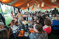 All Class Dinner on Bell Field.<br /> Occidental College alums enjoy a long weekend of activities and festivities both on campus and off during Alumni Reunion Weekend, June 21, 2013.<br /> (Photo by Marc Campos, Occidental College Photographer)