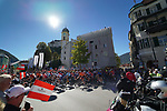 The start of the Men Junior Road Race of the 2018 UCI Road World Championships running 132.4km from Wattens to Innsbruck, Innsbruck-Tirol, Austria 2018. 27th September 2018.<br /> Picture: Innsbruck-Tirol 2018/Dominik Zwerger | Cyclefile<br /> <br /> <br /> All photos usage must carry mandatory copyright credit (© Cyclefile | Innsbruck-Tirol 2018/Dominik Zwerger)
