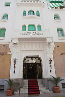 Afrique/Afrique du Nord/Maroc /Casablanca: l'Hotel Transatlantique rue Chaoua- Façade art-déco