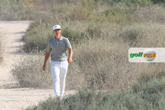 Thorbjorn Olesen (DEN) on the 16th during Round 4 of the Omega Dubai Desert Classic, Emirates Golf Club, Dubai,  United Arab Emirates. 27/01/2019<br /> Picture: Golffile | Thos Caffrey<br /> <br /> <br /> All photo usage must carry mandatory copyright credit (© Golffile | Thos Caffrey)