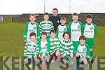 KILLARNEY CELTIC: The Killarney Celtic U11 C team who played at Christy Leahy park, Tralee on Saturday front l-r: Evan Murphy, Gavin Brady, Evan Fitzgerald-Buckley, Paudie O'Donoghue and Jake Doona. Back l-r: David Mee, Alex Fogarty, Paudie O'Sullivan (coach), Conor O'Sullivan, Adam McSweeney and Rúdel Rugh.