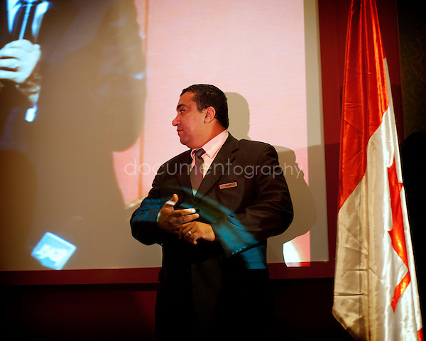 Tower Nile Hotel in Cairo. Press conference of Dr Ahmed Shafik, one of the two candidates in the run for the second run of the presidential elections in Egypt. ..copyright : Magali Corouge / Documentography