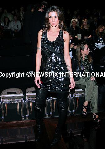 "ELISABETTA CANALIS (George Clooney' s Girlfriend).at the Roberto Cavalli Autumn 2010/2011 Collection, Milan Fashion Show, Milano_28/02/2010.Mandatory Credit Photo: ©NEWSPIX INTERNATIONAL..**ALL FEES PAYABLE TO: ""NEWSPIX INTERNATIONAL""**..IMMEDIATE CONFIRMATION OF USAGE REQUIRED:.Newspix International, 31 Chinnery Hill, Bishop's Stortford, ENGLAND CM23 3PS.Tel:+441279 324672  ; Fax: +441279656877.Mobile:  07775681153.e-mail: info@newspixinternational.co.uk"