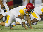 Torrance, CA 09/08/17 - Carlos Giron (Hawthorne #68) in action during the Hawthorne vs South Torrance CIF-SS non-conference Varsity football game at South Torrance High School.