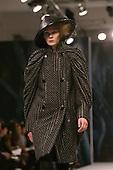 22 February 2009. London Fashion Week. Collection by Malaysian designer Bernard Chan dran.