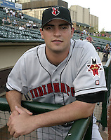 May 14, 2004:  Pitcher Matt Childers (45) of the Indianapolis Indians, Triple-A International League affiliate of the Milwaukee Brewers, during a game at Frontier Field in Rochester, NY.  Photo by:  Mike Janes/Four Seam Images
