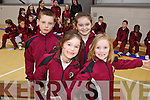 Cillian Griffin, Mairead McCarthy, Aine Moriarty and Cliodhna O'Connor pictured at the Official opening of the new Sports hall at Moyderwell Primary School on Friday.